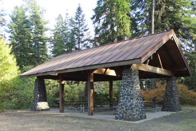 Fireplace picnic shelter