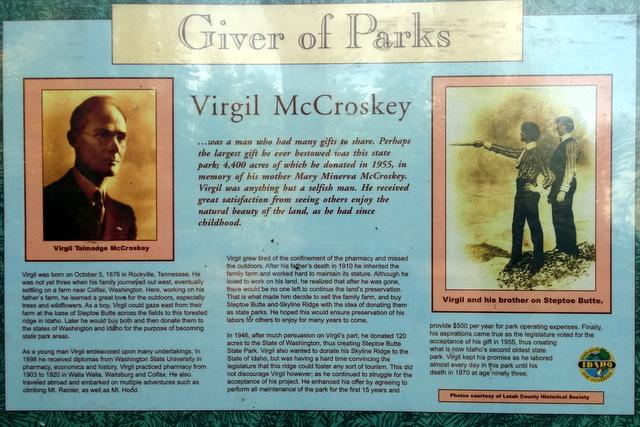 Virgil McCroskey - Giver of Parks