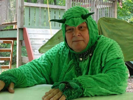 A green dragon who also sold ice cream and did a magic show for the children.