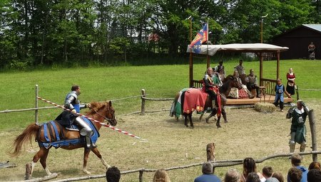 My knight was unseated.  Get up, Sir William!
