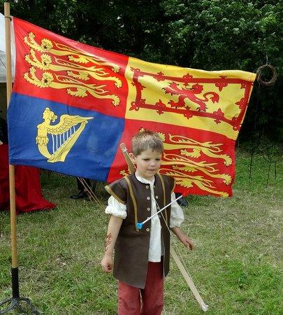 A boy and a flag