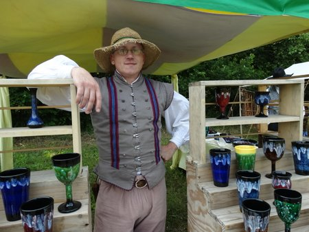 A potter selling his wares